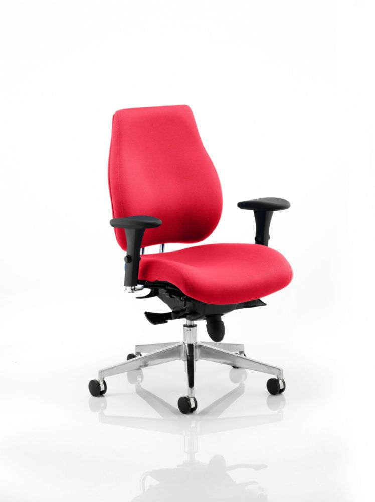 Chiro Plus Posture Chair Sculpted Seat & Back Cushions Multi-Functional Arms Choice of Colours